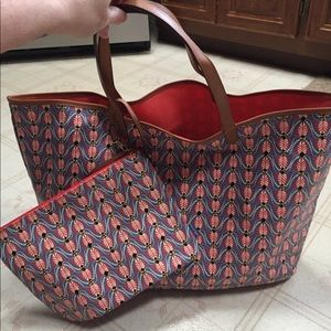 Stella & Dot tote bag with mini purse